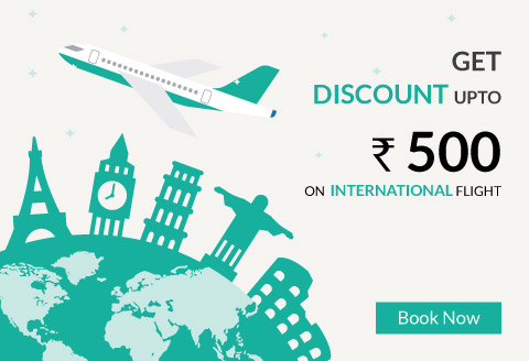 International Flight Discount Rs500