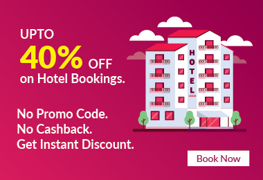 Flat 40% Off on Hotels Booking