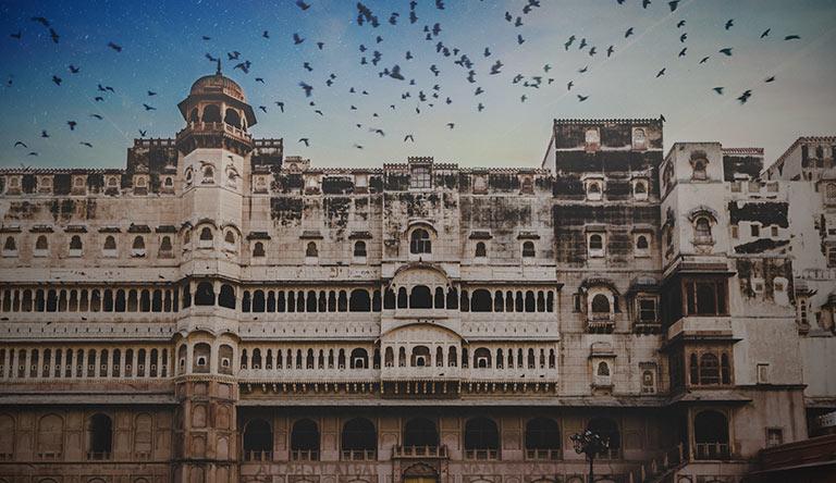white-architecture-building-bikaner-rajasthan-india
