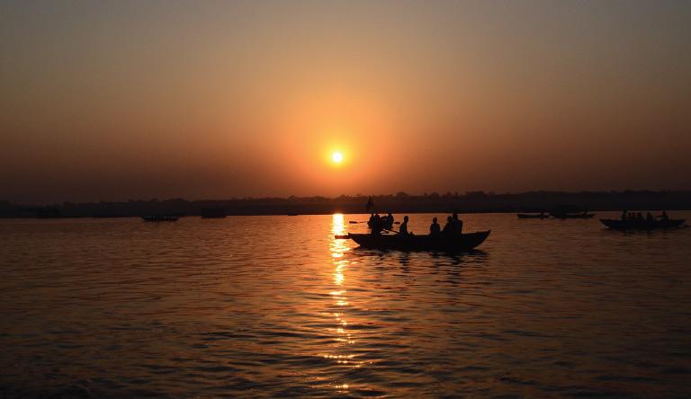 sunset-view-varanasi-uttarpradesh-india