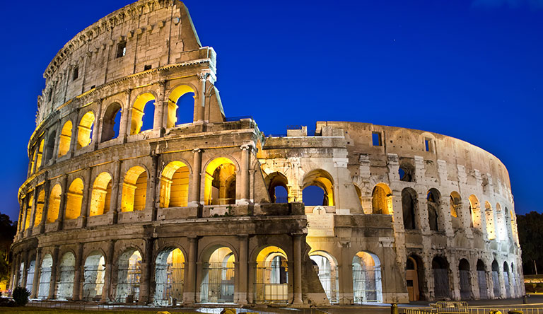 colosseum-at-dust-rome-italy