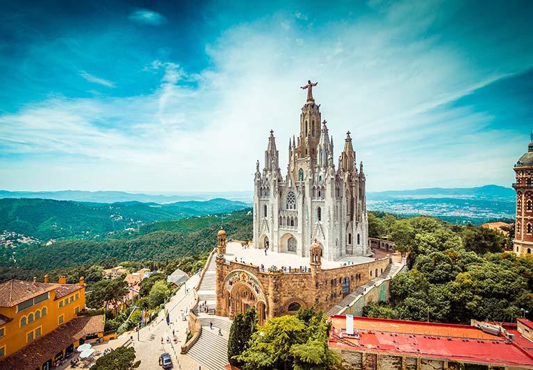tibidabo-church-on-mountain